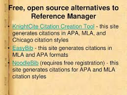 Bibliographic Softwares Reference Manager Ppt Download