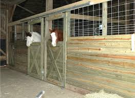for riders on a budget these diy stall fronts using economically d feedlot panels and