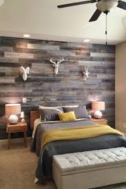 patchwork gray stained wood wall
