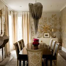 metallic living space and dining room