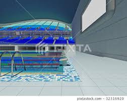 Indoor olympic swimming pool Outdoor Indoor Olympic Swimming Pool Arena With Blue Seats Pinterest Indoor Olympic Swimming Pool Arena With Blue Seats Stock