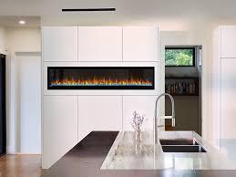 napoleon 74 in alluravision slim wall mount electric fireplace nefl74chs