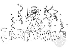 Scritta Carnevale Con Pagliaccio Da Colorare Tuttodisegni Com Con