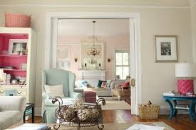 Amazing Modern LIVING ROOM DECORATING IDEAS Charming Pink And Blue Southern Living  With Vintage Country Living Rooms 12 Ideas