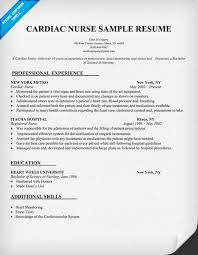 Rn Professional Resumes Cardiac Nurse Resume Sample Resumecompanion Com