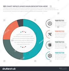 Pie Chart Lines Essentially Simple Modern Pie Chart Infographics Stock Vector Royalty
