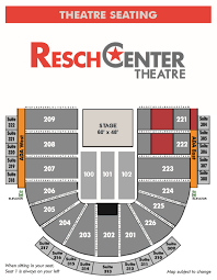 Resch Center Seating Chart With Seat Numbers Seating Maps Resch Center