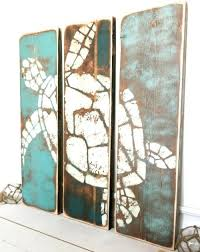 Small Picture Coastal Ocean and Beach Paintings on Wood for a Rustic Unique