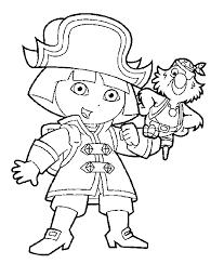 Dora Kinder Kleurplaten Piraat