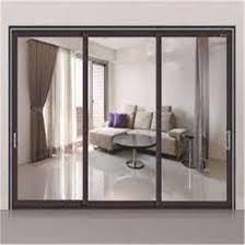 steel metal framed safety glass sliding