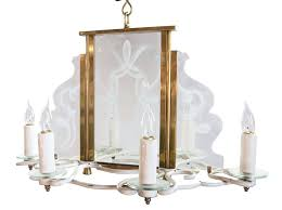 chandelier glass six candle chandelier with decorative etched glass panels chandelier replacement glass beads