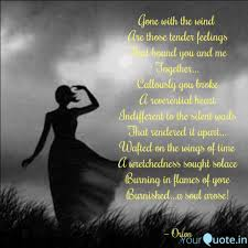 Gone With The Wind Are T Quotes Writings By Meenu Minocha