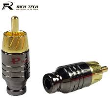 online get cheap rca connector wiring aliexpress com alibaba group 10pcs gold plated rca male plug wire er rca connector speaker amplifier audio output input