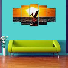 Wood Giftscorner Pelican <b>Sunset 5 Piece</b> Canvas Wallart - Hd, Rs ...