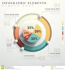 Flat Style Abstract Pie Chart Infographics Chart