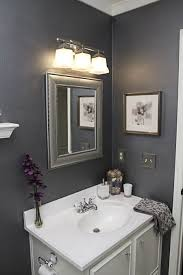 gray bathroom colors. Simple Colors Graysilverwhitepurple Bathroom Love The Color Scheme  Would It Work  For A Very Tiny Powder Room For Gray Bathroom Colors E