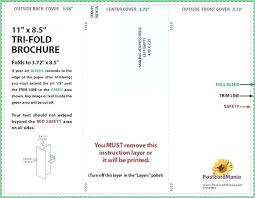 Six Panel Brochure Template Definition Images Of Six Sided Brochure Two Fold 4