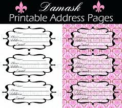 Sample Address Book Template Documents In Word Openoffice ...