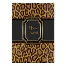 Leopard Print Party Invitation Template Zazzle Com