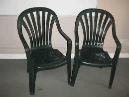 2 x garden chairs pair of green