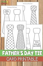 Show mom, grandma and nana how much they mean with printable coloring pages you can decorate just for them. Printable Father S Day Tie Card Kiddycharts Printables