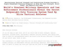 tactical bodyweight workouts 12 week tactical strength and conditioning system no gym required