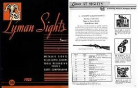 Lyman Front Sight Chart Details About Lyman 1951 52 Sights Catalog No 36