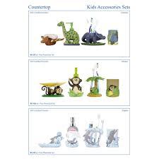 4 Piece Bathroom Accessory Set Modona Dinosaur Kids 4 Piece Bathroom Accessory Set Reviews