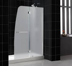 aqua shower door frosted glass