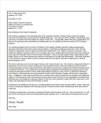 faculty cover letters academic application letters 9 free word pdf format