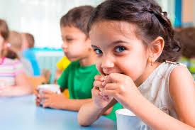 Image result for image of kids eating outside
