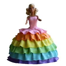 Order Multi Colors Barbie Cake Online Delivery Kanpur Kanpur Gifts