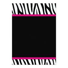 Personalized Zebra Baby Girl Shower Invitations Pink Zebra Baby Shower Invitations