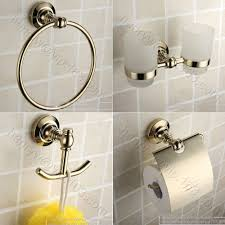 Brass Bathroom Accessories Popular Gold Bathroom Accessories Buy Cheap Gold Bathroom