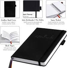"""Mokani Planner Diary - Weekly & Monthly Life Planner with Leather Hardcover  A5-8.27"""" x 5.83"""" - Time Management & Hit Your Goal - Organizer Notebook &  Journal - Start Any Time +"""