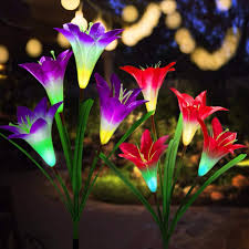 Amazon Prime Solar Garden Lights Aogist Solar Lights Outdoor Upgraded Solar Garden Lights Multi Color Changing Lily Solar Flower Lights For Patio Yard Decoration Bigger Flower And