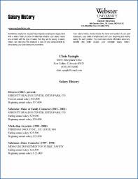 How To Salary History Salary History Resumes Best Of Resume Templates Riverheadfd
