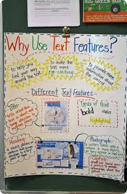 Text Features Anchor Chart Posted In The Classroom It Would