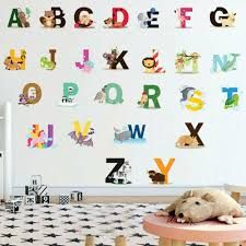 26 letters alphabet wall decal wall