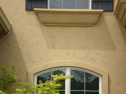 the stucco on this homes exterior is