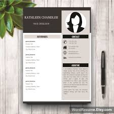 Clean Resume Template With Photo Kathleen Chandler Creative Resume Templates
