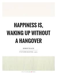 Hangover Quotes Awesome Happiness Is Waking Up Without A Hangover Picture Quotes