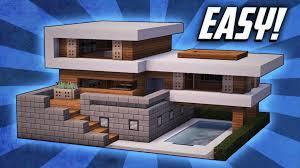 Easy Modern Cool Minecraft Easy Modern Minecraft House Ideas