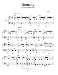 adele sheet music adele remedy piano accompaniment piano plateau sheet music
