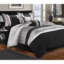duvets queen king size bed white black