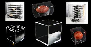 Football Display Stand Plastic Plexiglass Display Cases Clear Acrylic Boxes 88