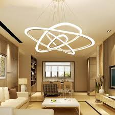 Living Room Pendant Light Unique Modern LED Living Room Suspended Lamps Creative Bedroom Fixtures