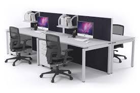 office workstation desks. A 4 Person Workstation Desks With Acoustic Screens White Leg Horizon [1200L X 800W] Office E
