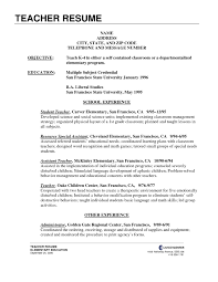 Cover Letter Student Teaching Resume Examples Student Teaching