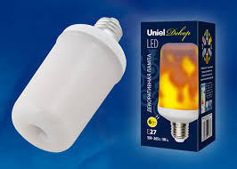 <b>Лампа</b> светодиодная <b>LED</b>-<b>L60</b>-<b>6W</b>/<b>FLAME</b>/<b>E27</b>/<b>FR PLD01WH</b> ...